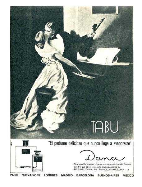 1972 DANA Tabu fragrance Spain