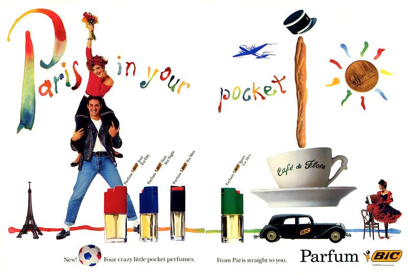 1989 BIC 4 parfums (Jour for Day - Nuit for Night - For Men - Sport for Men) fragrances: US (spread )