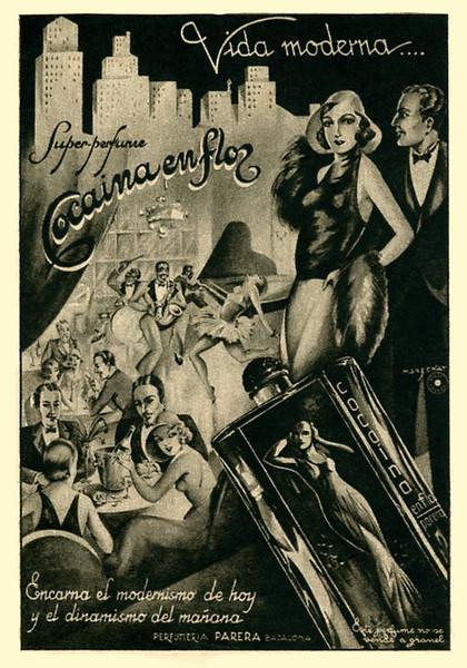 1935 PARERA Cocaina en Flor fragrance Spain (Lecturas)