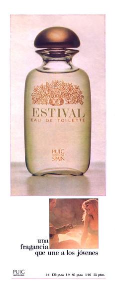 1968 PUIG Estival fragrance Spain (half page)