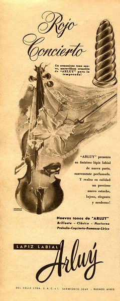 1950 ARLUY lipstick Argentina (half page Para Ti)