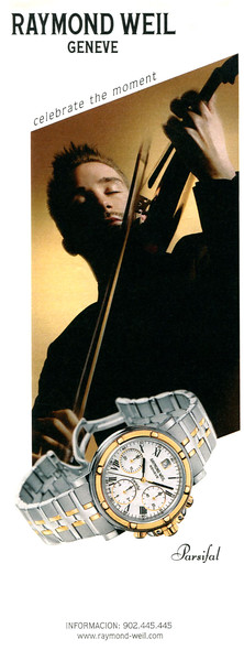 2000 RAYMOND WEIL watches Spain (half page Blanco y Negro)