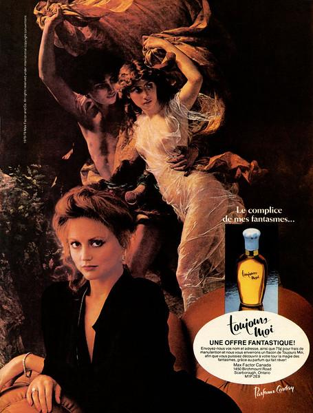 CORDAY Toujours Moi 1979 Canada 'Le complice de mes fantasmes'