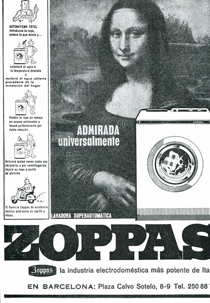 1970s ZOPPAS washing machine Spain 'Unversally admired'