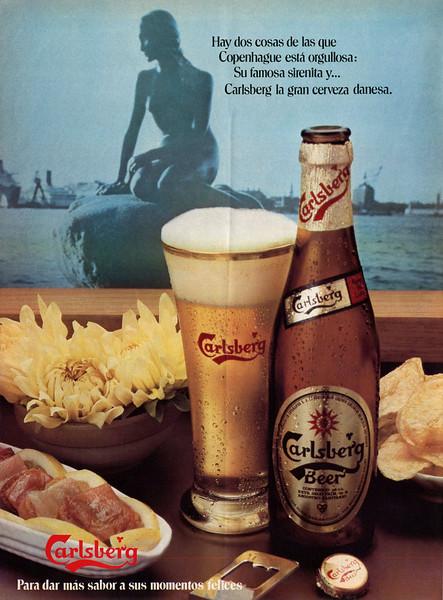 1978 CARLSBERG beer Spain (Telva)
