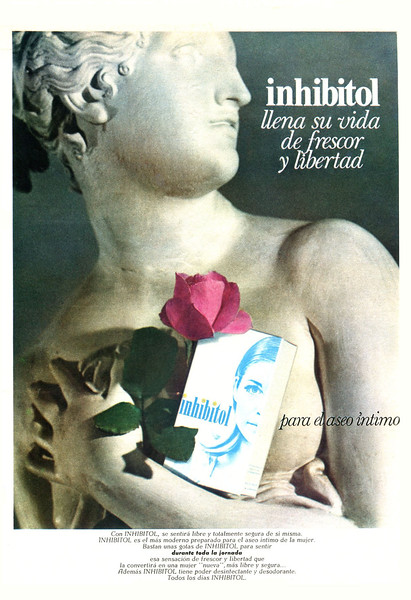 1970 INHIBITOL hygienic wash Spain (Telva)