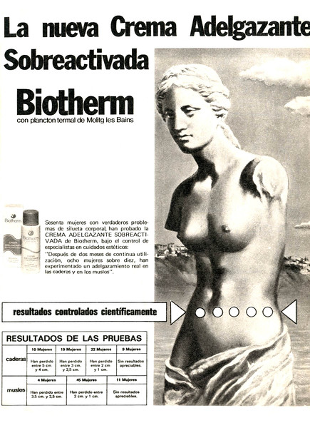 1977 BIOTHERM slimming cream Spain (Lecturas)