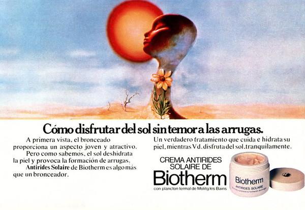 1979 BIOTHERM cosmetics Spain (half page Belleza y Moda)