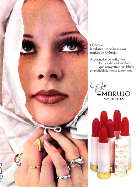 1970 MYRURGIA Embrujo lipstick Spain (Garbo)