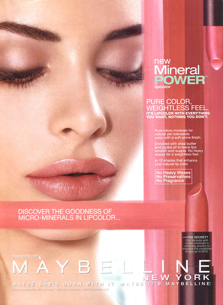2008 MAYBELLINNE lipstick US (HB) featuring Charlotte Kemp Muhl