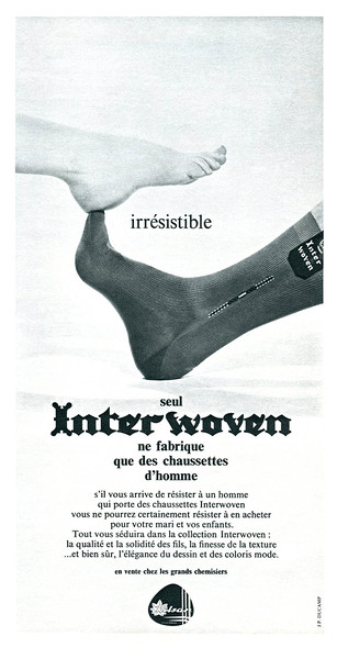 1967 INTERWOVEN socks France (Elle)