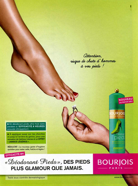2009 BOURJOIS feet deodorant France