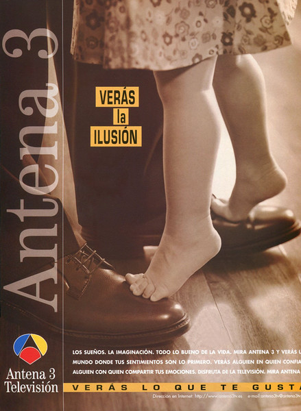 1998 ANTENA 3 TV channel Spain (Marie Claire)