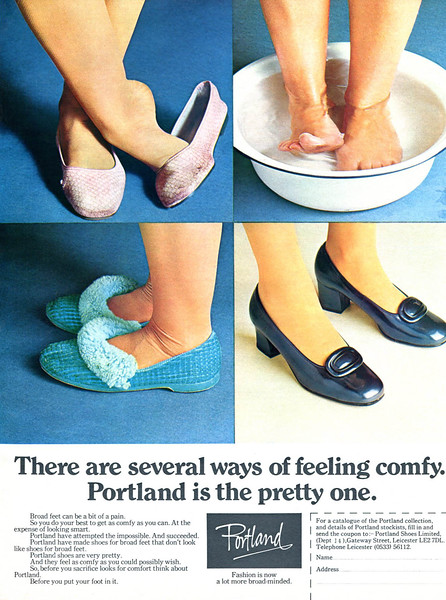1973 PORTLAND home slippers UK (Ladies' Home Journal)