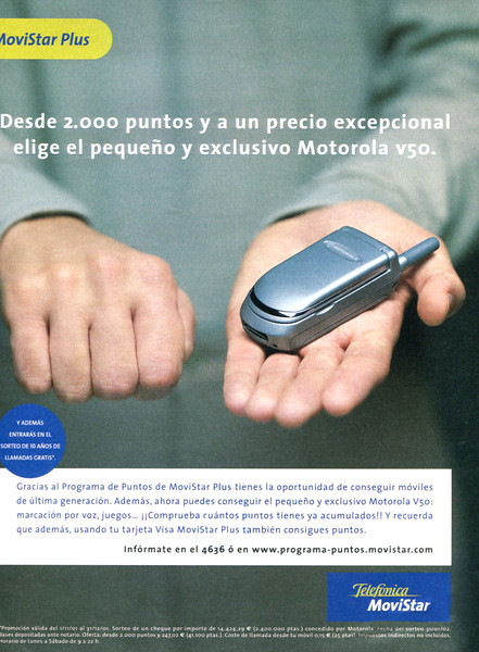 2001 MOVISTAR mobile phone company: Spain (La Vanguardia Magazine)