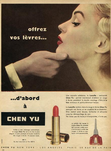 1955 CHEN YU Lanofix Lipstick France (Elle)