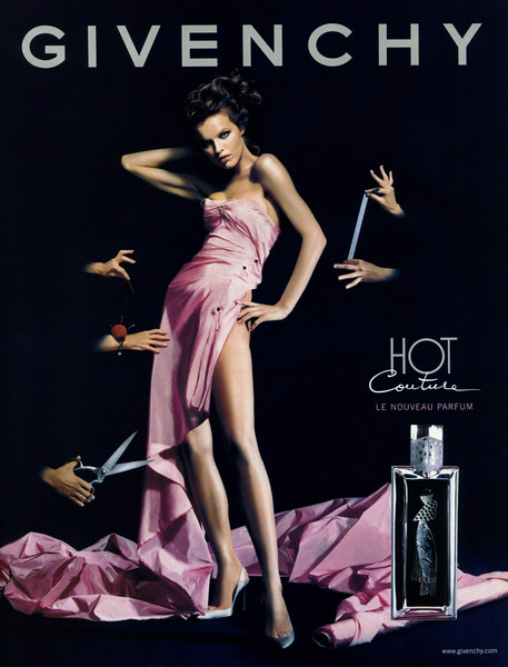 2001 GIVENCHY Hot Couture fragrance Spain (Vogue) featuring Eva Herzigova by  Guzman