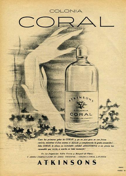 1960 ATKINSONS Coral Bouquet de Flores cologne Argentina (Para Ti)