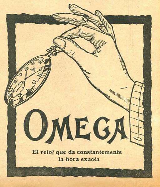 1921 OMEGA watches: Spain (Mundo Grafico)