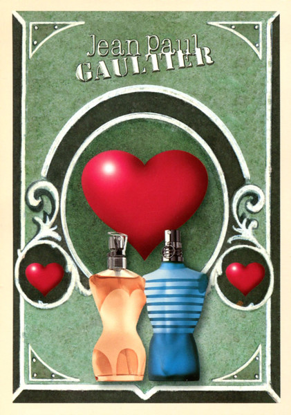 2000 JEAN PAUL GAULTIER Classique - Le Male Valentine's Day Limited Édition France fragrance(postcard) 'Love JPG'
