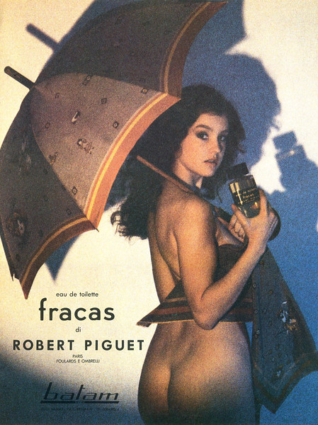 1980 ROBERT PIGUET Fracas fragrance Italy (Vogue)