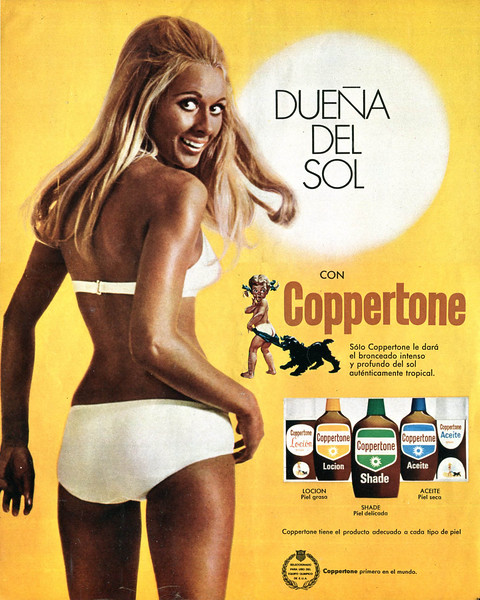 1971 COPPERTONE sun tan lotions Spain (Telva)