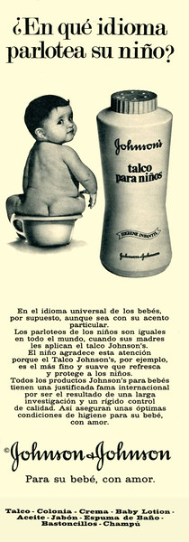 1972 JOHNSON talcum powder Spain (half page Telva)