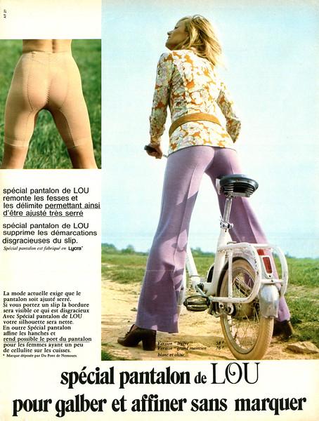 1971 LOU girdle pants France (Marie Claire)