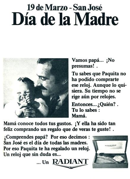 1968 RADIANT watches Spain (Telva)