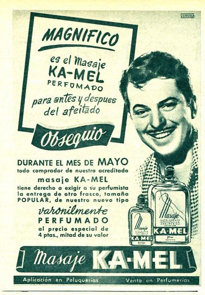 1949 KAMEL After Shave Spain (quarter page Semana)