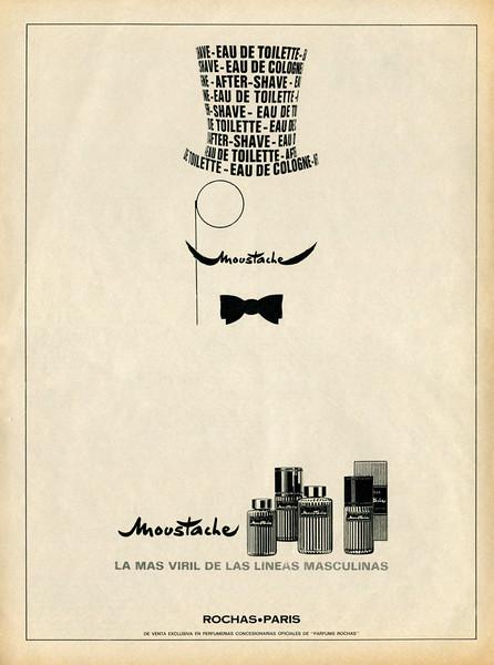1968 MARCEL ROCHAS Moustache cologne: Spain