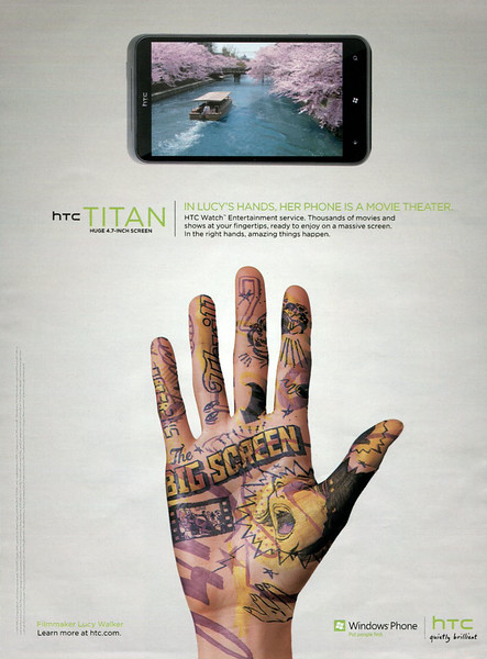 2011 HTC TITAN cell phones UK (Glamour)