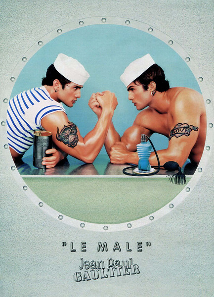 1998 JEAN PAUL GAULTIER Le Male fragrance France (with bull tattoo)