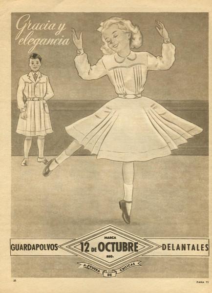 1951 '12 de Octubre' school uniforms: Argentina (Para Ti)