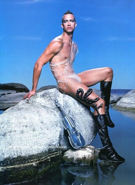 2002 ABSOLUT Legends Spain  (Vogue) page 2 (Nacken) by Jean-Baptiste Mondino