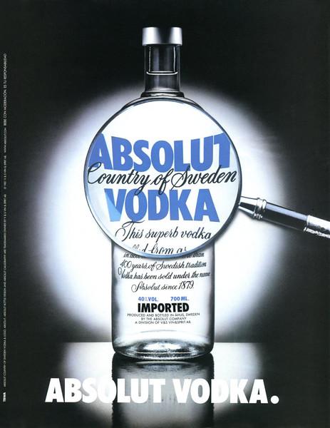 1981 ABSOLUT 'Vodka' Spain (El País Semanal)