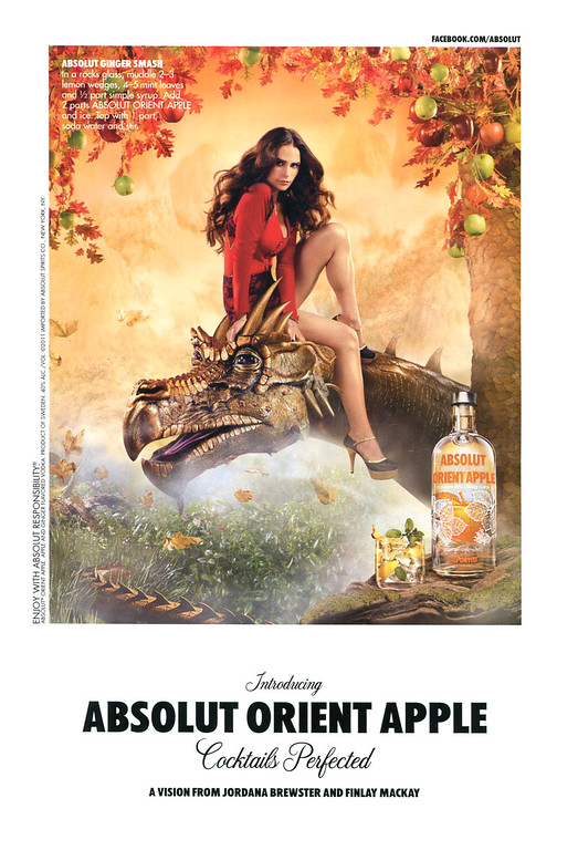 2011 ABSOLUT 'Orient'Apple' US (Details) by Jordana Brewster and Finlay Mackay;