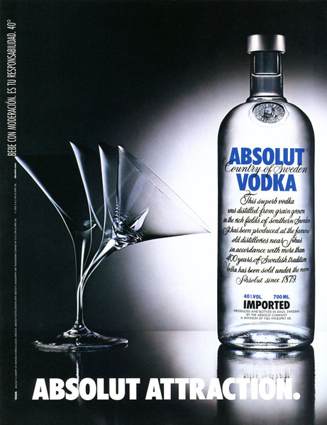 1985 ABSOLUT 'Attraction' Spain (Dominical)