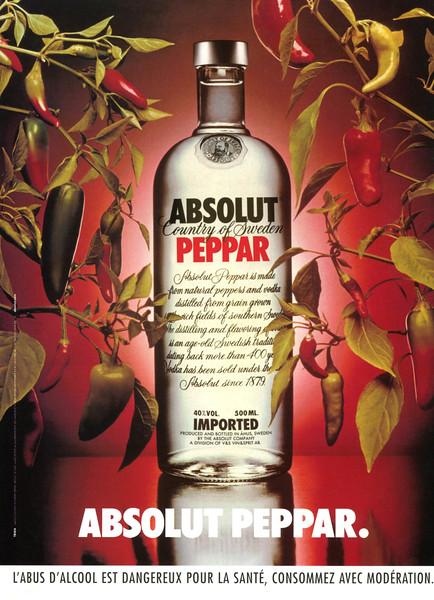 1986 ABSOLUT Peppar vodka France (FHM) - published in 2003