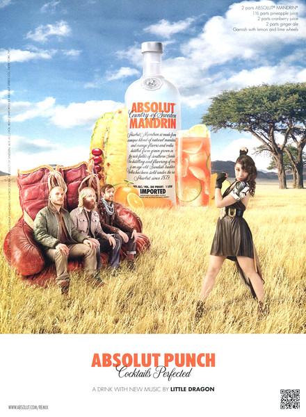 2012 ABSOLUT Mandrin 'Punch' US (Elle)