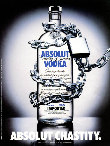 1996 ABSOLUT 'Chastity' Spain (Quo)