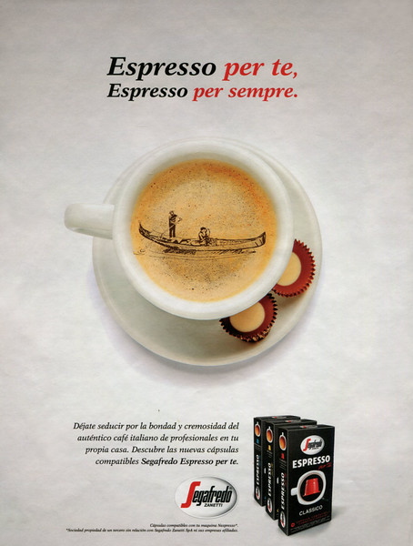 2017 SEGAFREDO Espresso coffee capsules: Spain (YoDona)