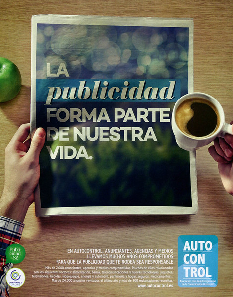 2015 ADVERTISING SELF-REGULATION: Spain (El País Semanal) 'Advertising is part of our life'