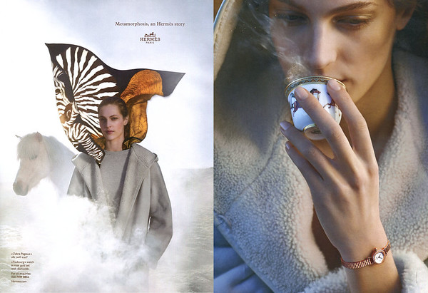 2014 HERMÈS Metamorphosis (Fall-Winter 2014-2015) UK (spread Harper's Bazaar)