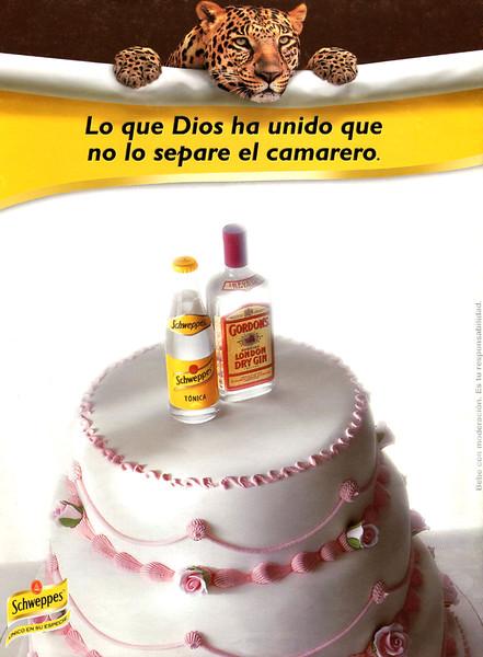 1999 SCHWEPPES tonic water Spain (La Vanguardia Magazine)