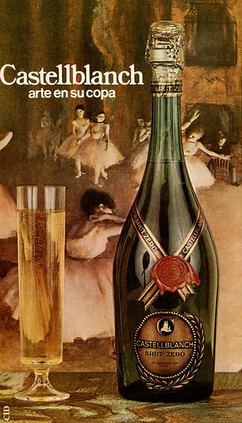 1972 CASTELLBLANCH champagne Spain (Liceo theatre programme)