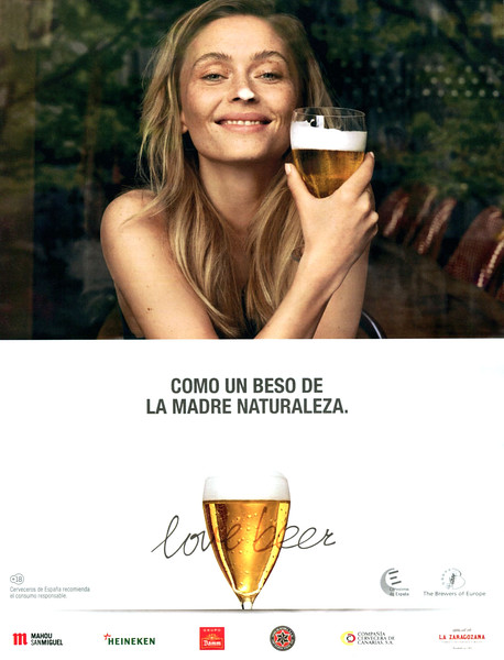 2014-2015 LOVE BEER Spanish beer-makers: Spain (El País Semanal) 'Like a kiss of Mother Nature'
