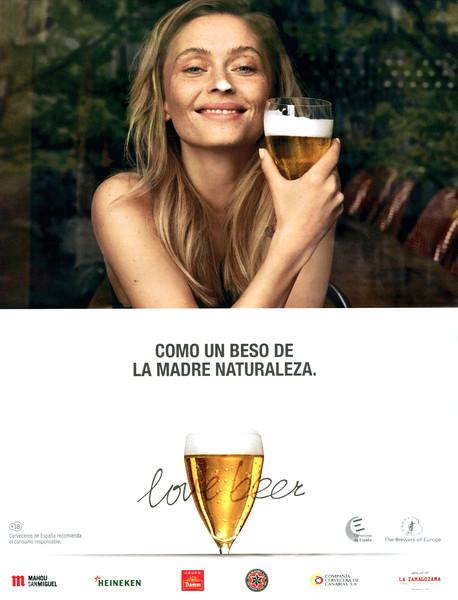 2014-2015 LOVE BEER Spanish beer-makers: Spain (El País Semanal) 'Like a kiss of Mother Nature'
