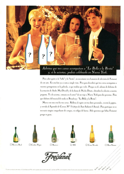 1995 FREIXENET champagne Spain (Hola)