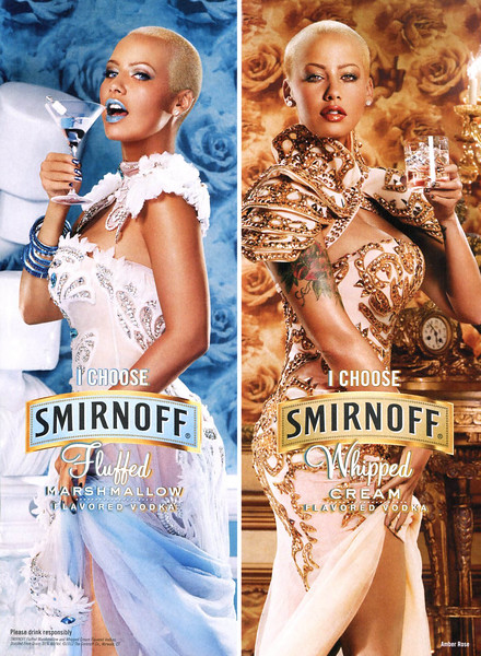 2012 SMIRNOFF Fluffed-Whipped vodka US (Glamour) featuring Amber Rose